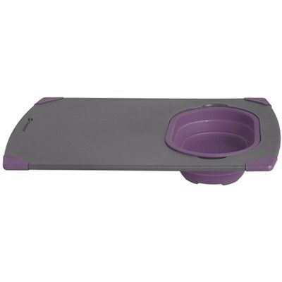 Plum Camping Chopping and Carving Board with Colander Outwell Collaps Board